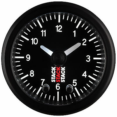 Stack Pro Stepper Analogue Clock Electronic 52mm