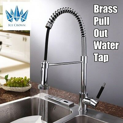 Pull Out Water Tap Spray Kitchen Basin Sink Mixer Laundry Faucet