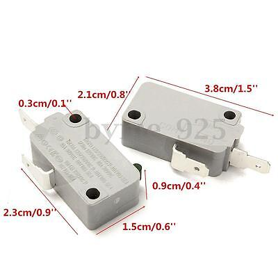 2Pcs KW3A Door Micro Switch Normally Open DR52 for Microwave Oven Rice Cooker