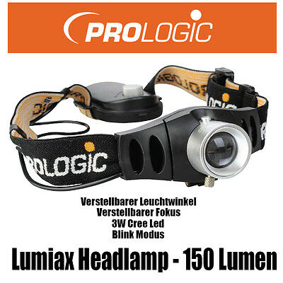 ProLogic Lumiax Headlamp - verstellbarer Winkel/Fokus - 150 Lumen - 47345 [J47]
