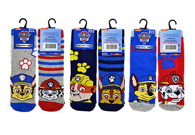 Official Paw Patrol Boys/Girls 6 Pack of Socks - 3 Sizes Available