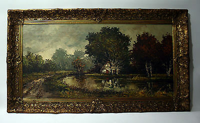 antique authentic Dutch painting in Gilt frame