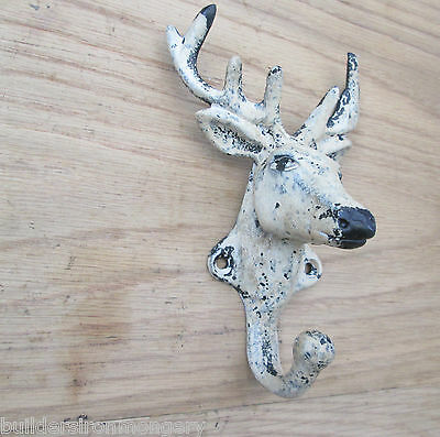 Cast Iron Vintage Old Style Deer/stag Head Coat Hook Hanging Hook Decorative