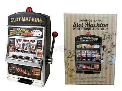 Savings Bank Novelty Slot Machine With Sound And Light Casino Money Coin Gadget