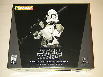 Gentle Giant Star Wars Coruscant Clone Trooper Deluxe Mini Bust Exclusive New