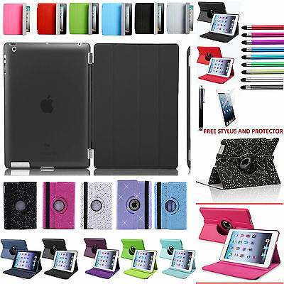360 Rotating Leather Smart Magnet Stand Case Cover fit for Apple iPad All Models