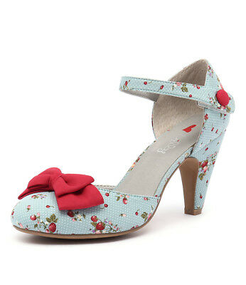 New I Love Billy Annie Blue Spot Red Womens Shoes Casual Shoes Heeled