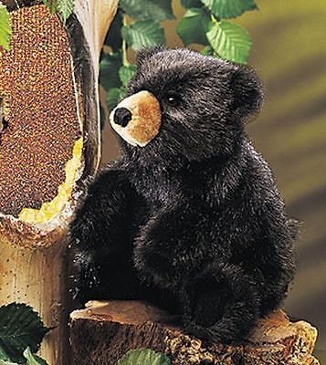 Baby Black Bear Hand Puppet by Folkmanis Free Shipping