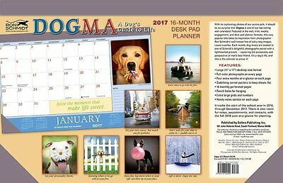 Dogma: A Dog's Guide to Life 2017 Desk Pad Planner Calendar Funny Witty