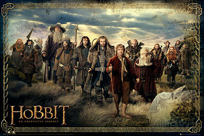 The Hobbit-Cast Movie Poster Print, 36x24