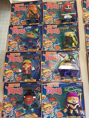 8 Vintage Hasbro Original Battle Trolls Set Series #1 Action Figure 1992