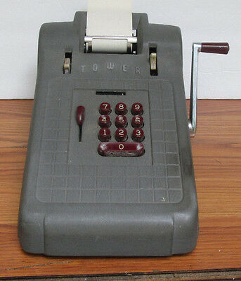 Rare VintageTOWER mechanical adding machine Made in USA