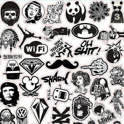 60 Pcs Skateboard Vinyl Sticker Skate Graffiti Laptop Luggage Car Bomb Decal Lot