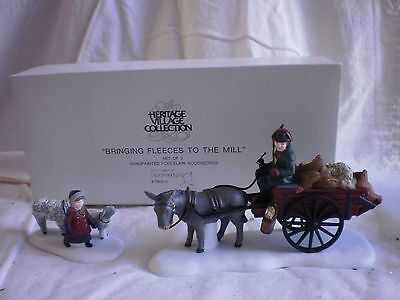 Dept 56 Bringing Fleeces To The Mill #58190 Dickens Heritage Village Acc. NEW!