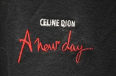 "Celine Dion ""A New Day"" Concert Embroidered Short Sleeve Polo Shirt Size Medium"