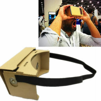 Funnny Google Cardboard Kit 3D Virtual Reality Glasses for iPhone7/6 Android AU