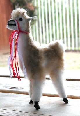 New From Peru One (1) Alpaca Llama Standing Position Figurine 4 Inches Tall