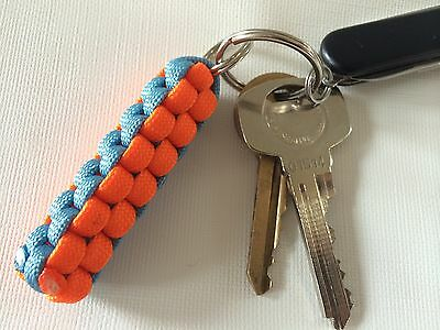 Paracord Keyring Keychain In Gulf Racing Colours