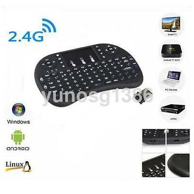 2.4G Mini Wireless Keyboard with Touchpad for PC Pad Andriod Smart TV Black CA