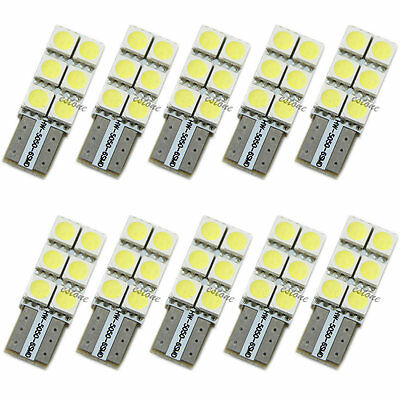 10X T10 194 168 W5W 5050 6 SMD Turn light Wedge LED Bulb XENON White Car Tail