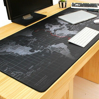 90*40cm World map pattern Gaming Mouse Mat Pad Office Table Mat