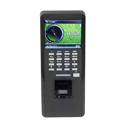 New Time Attandance Fingerprint+ID Card Reader+Access Control T9 Input TCP/IP