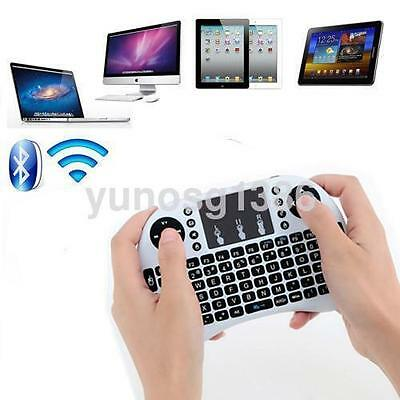 2.4G Mini Wireless Keyboard with Touchpad for PC Pad Andriod Smart TV White CA