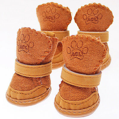 Winter Small Dog Boots Anti-Slip Puppy Shoes Pet Dog Protective Snow Booties