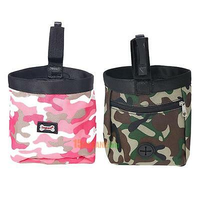 Camouflage Pet Dog Puppy Training Pouch Walking Treat Snack Bag Dispenser