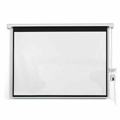 "100"" 16:9 HD Foldable Electric Motorized Projector Screen + Remote"