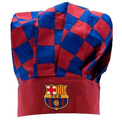 Barcelona Checked Chefs Hat - Football Club Official Gift Kitchen Bbq Claret