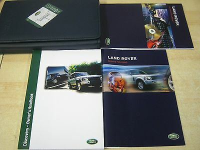 Landrover Discovery 2 Owners Manual Handbook  2002-2004 Service Book Wallet