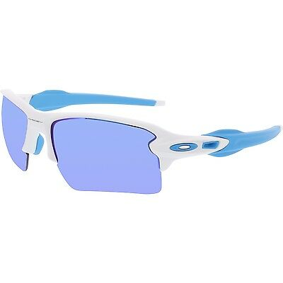 Oakley Men's Flak 2.0 OO9188-02 White Wrap Sunglasses