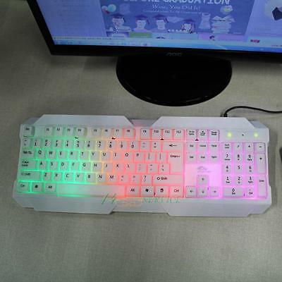 USB Wired  Gaming Keyboard Mouse Combo  Backlit  Colorful  LED  for  PC  Laptop