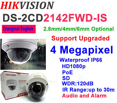 HIKVISION DS-2CD2142FWD-IS 4MP HD SD POE IP Camera Waterproof with Audio & Alarm