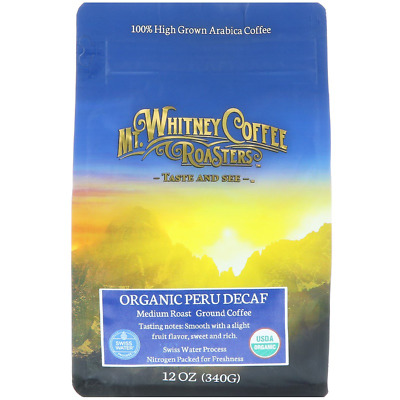 New Mt. Whitney Coffee Roasters Organic Peru Decaf Ground Swiss Water Process