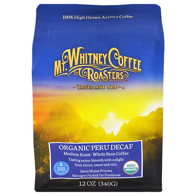 New Mt. Whitney Coffee Roasters Organic Peru Decaf Whole Bean Swiss Water Daily