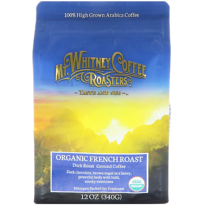 New Mt. Whitney Coffee Roasters Organic French Artisan Roasted Whole Bean Ground