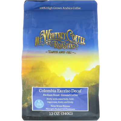 New Mt. Whitney Coffee Roasters Columbia Excelso Decaf Ground Bean Swiss Water