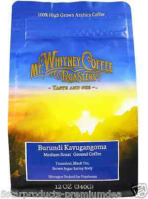 New Mt. Whitney Coffee Roasters Burundi Kavugangoma Medium Roast Ground Bean