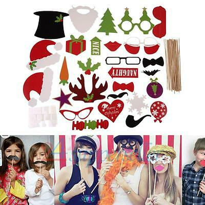 28 Photo Booth Props Moustache on A Stick Weddings Christmas Birthday Party Fun