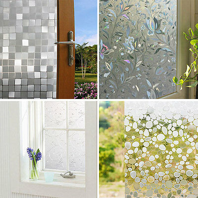 Professional Adhesive Waterproof Static Glass Frosted Window Sticker Film Cover