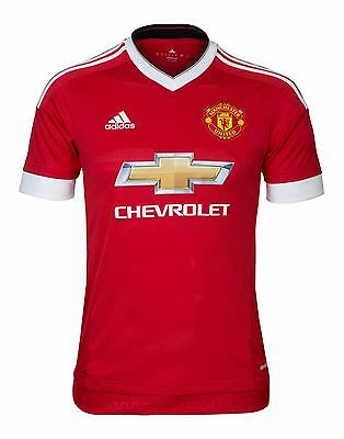 adidas Manchester United Home 2015/16 Boys Kids Youth Matchday Top Kit Jersey