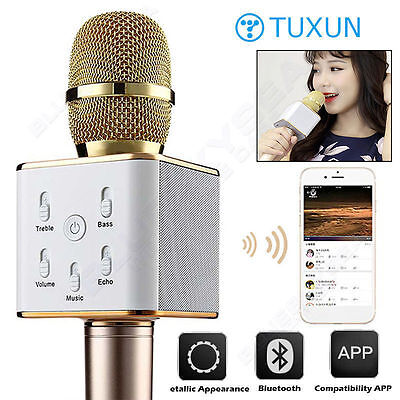 TUXUN Q7 Handheld KTV Home Karaoke Wireless Bluetooth Microphone Speaker New
