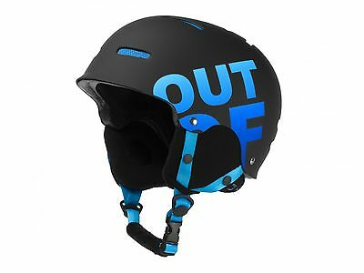 OUT OF casco helmet WIPEOUT BLACK- BLUE snowboard ski sci freeride AI17