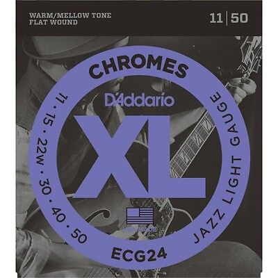 D'Addario ECG24 - Chrome Jazz Light 11-50 - Jeu de cordes guitare électrique