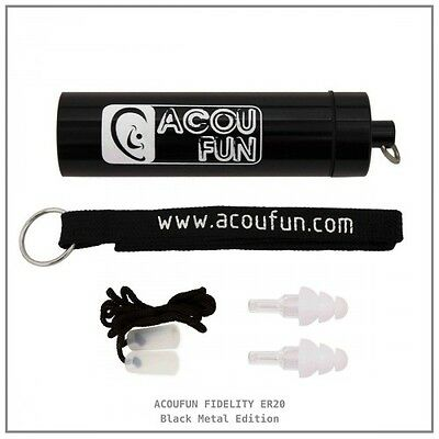 Acoufun Fidelity ER20 black Metal Edition - Protection auditive