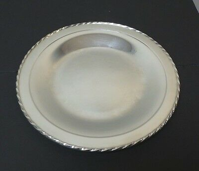 "TOWLE MID-CENTURY ""SILVER FLUTES"" STERLING SILVER 10"" PLATTER / TRAY, 270 gramsN"