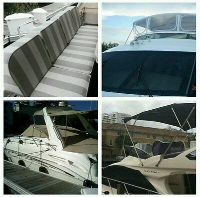 Boat Canvas Repairs, Copy Canvas, Re-Stiches, Patches, Change Zippers etc...