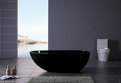 Bathtub Freestanding - Solid Surface Bathtub - Modern Soaking Tub - Dazio IV 71""